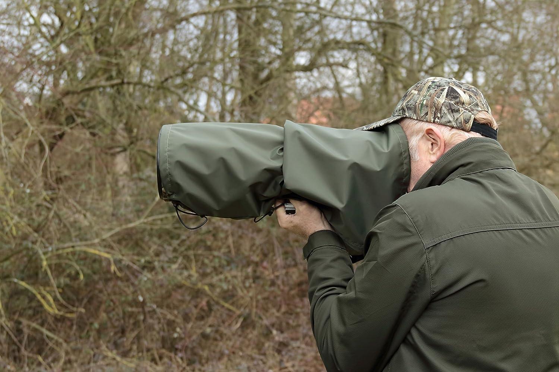 /400/F5.6/MK I /& MK II verde oliva /& bolsa de nylon impermeable Reino Unido. Lluvia//polvo cubierta de lente de c/ámara para Canon 100/