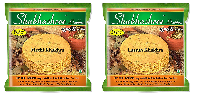 Shubhashree Methi & Garlic Khakhra Combo - 400 Grams