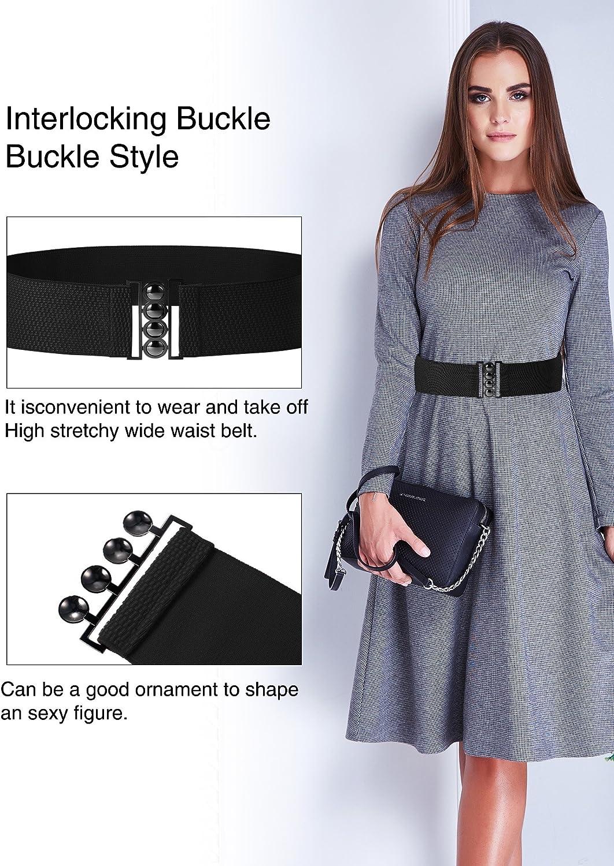 Chuangdi 4 Pacchi Cinghie Larghe Gancio Plus Cintura Elastica in Vita Corsetto a Cintura Cinture Elastiche Stile 1, Taglia 1