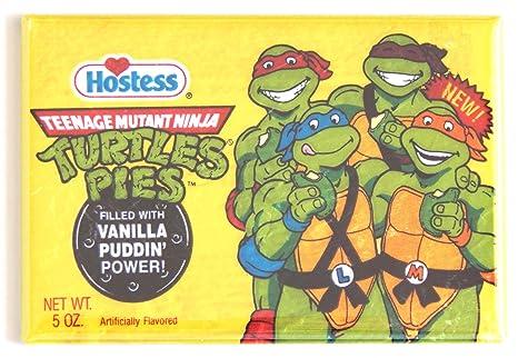 Amazon.com: Ninja Turtle Pudín pie Imán para nevera: Kitchen ...