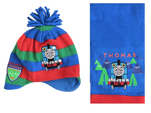 Thomas the Tank Engine Boys Kids Winter Hat with Gloves NEW