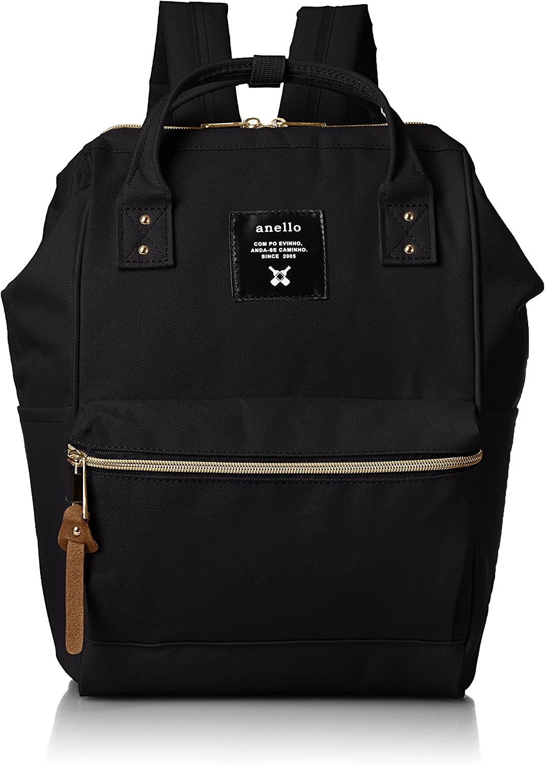 [Anero] [Official] Poly Canvas Cap Mini Backpack AT-B0197B Black