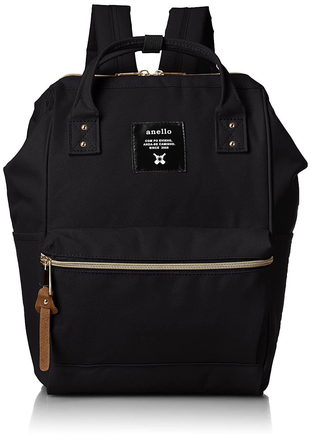 small black backpack with side pockets AT-B0197B