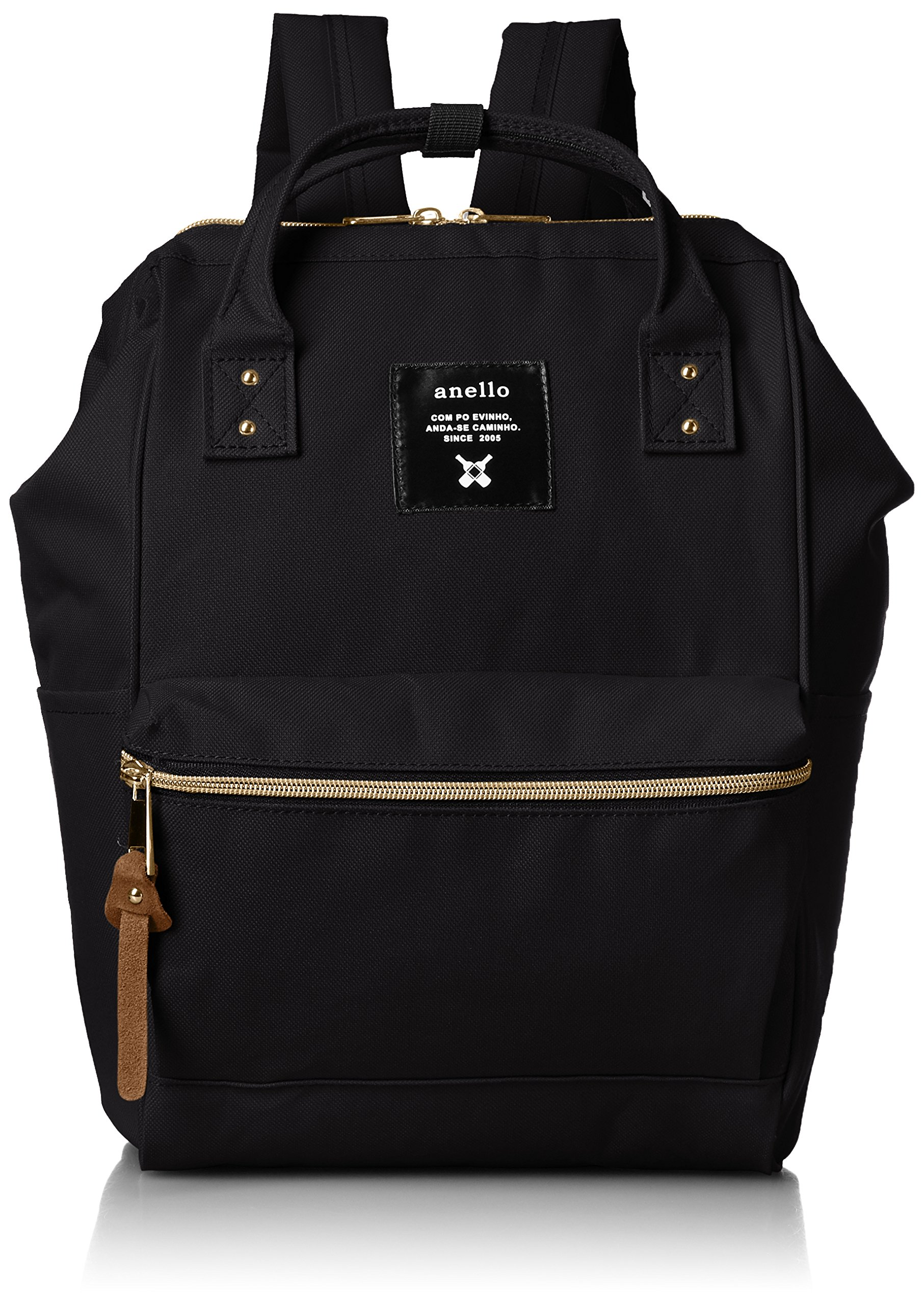 anello #AT-B0197B small backpack with side pockets black