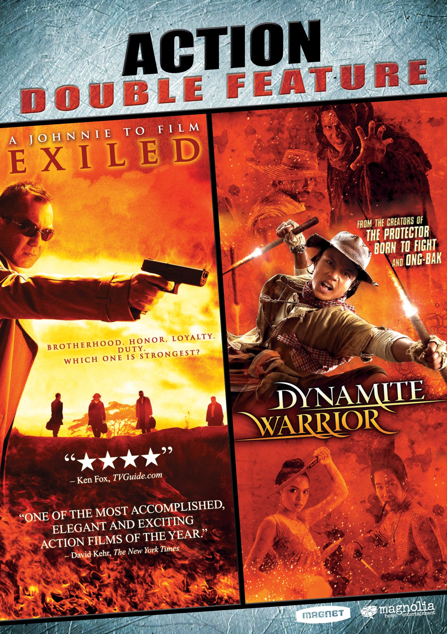DVD : Action Double Feature: Exiled / Dynamite Warrior (Widescreen, Dubbed)