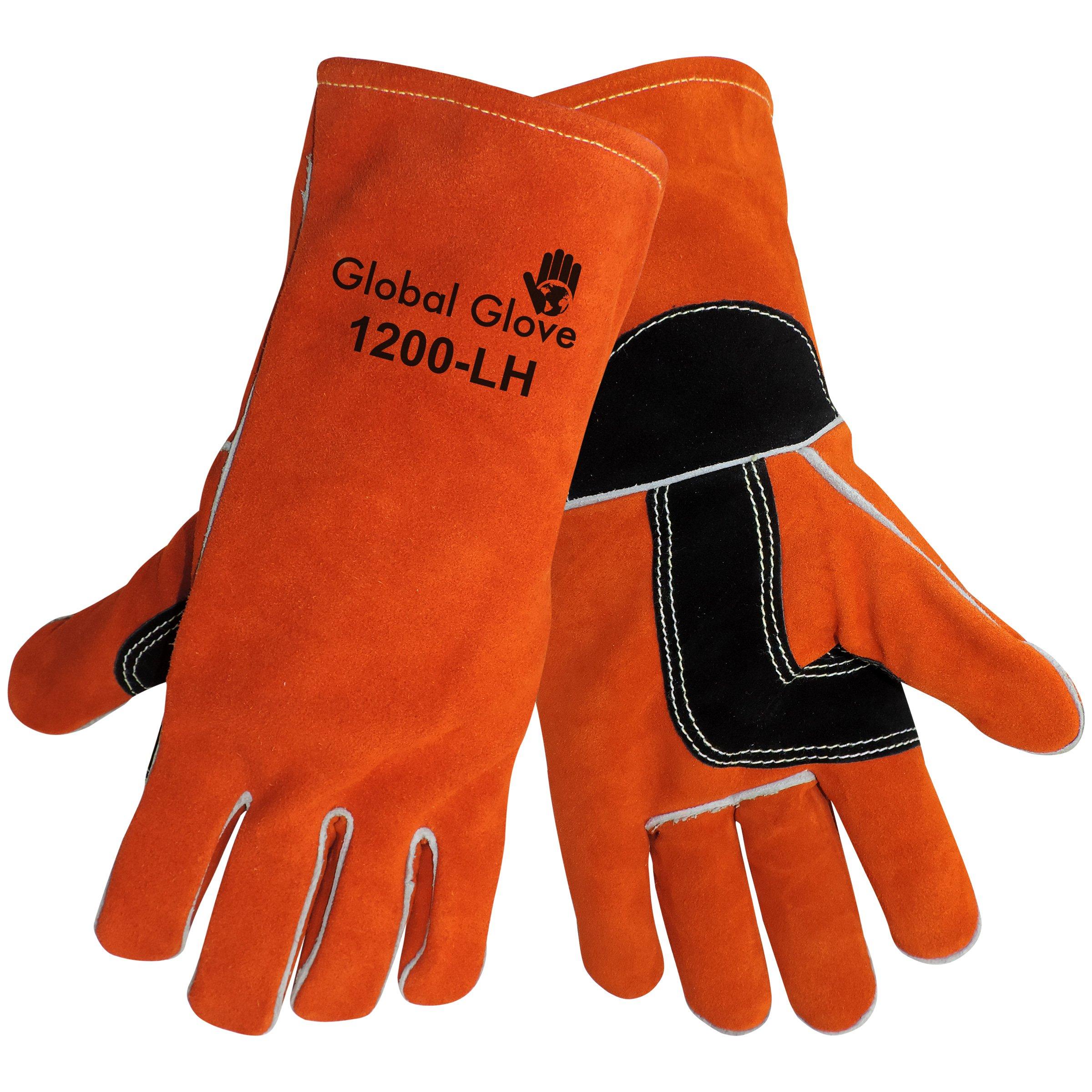 Global Glove 1200-LH Kevlar Sewn Premium Grade Shoulder Split Welder Left Hand Glove, Work, 1 Size, Russet (Case of 72) by Global Glove (Image #1)