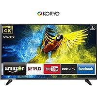 Koryo 138.9 cm (55 inches) 4K Ultra HD Smart LED TV KLE55EXUJ98UHD (Black) (2019 Model)