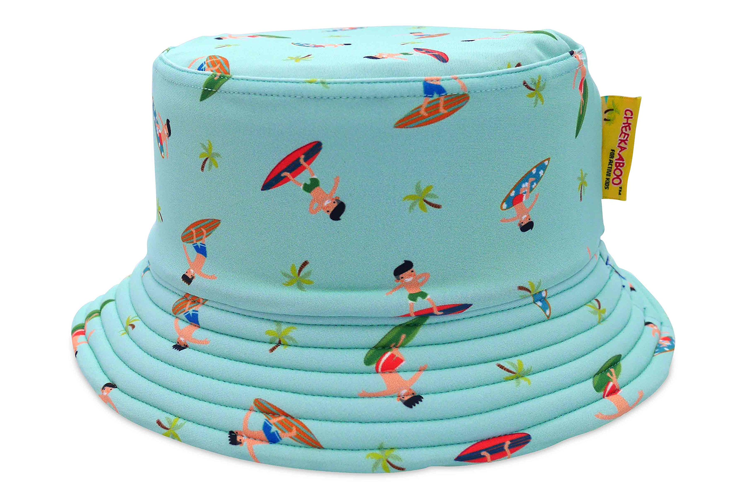 Cheekaaboo Kids & Toddler Reversible Sun Protection Hat for Boys and Girls, Age 2-8, Blue (Navy Blue/Surfers) by Cheekaaboo (Image #1)