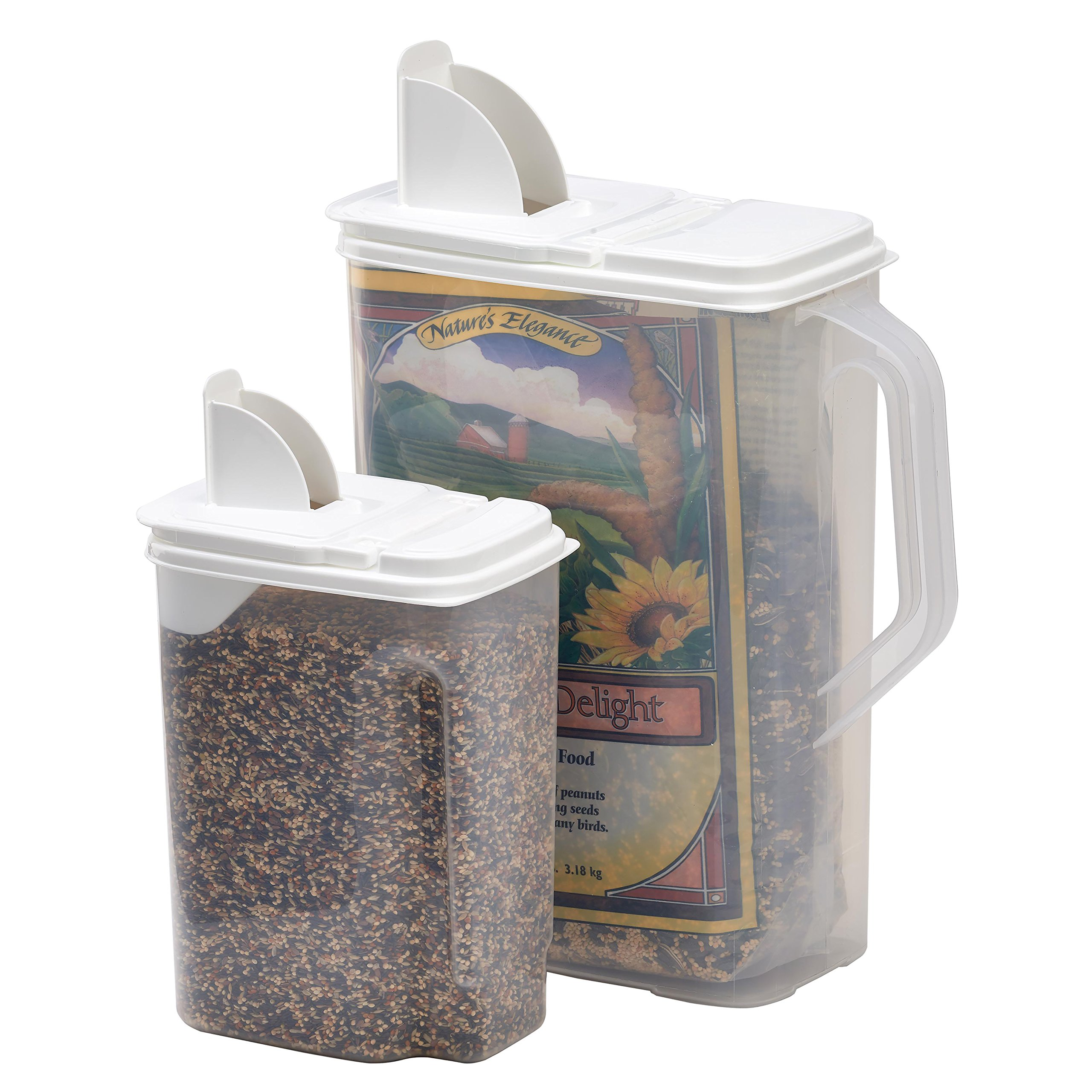 Buddeez 8 4-Quart Double-Pack Bird Seed Dispensing Set