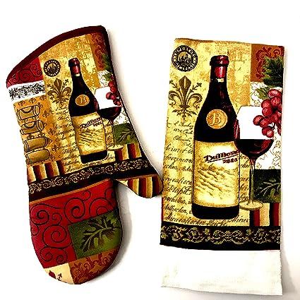 Amazon.com: Wine Kitchen Decor Themed Kitchen Towel (15x25 ...