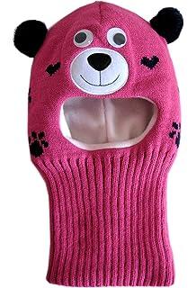 Frost Hats Warm Winter Hat Fleece Lined Balaclava for Kids Ski Mask for Girls M-BAL-BEARG