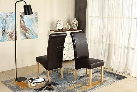 Sedie Schienale Alto Design : Kms foxhunter set di sedie da sala da pranzo con schienale