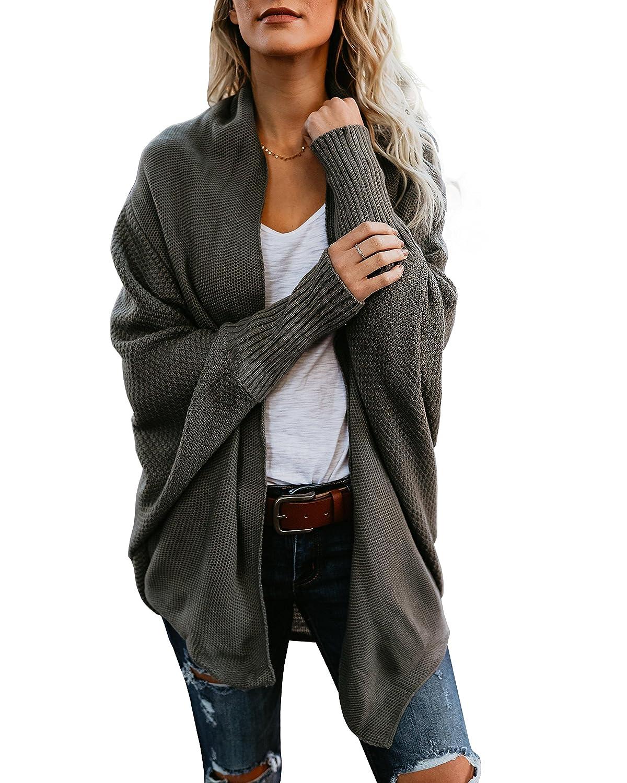 b99e09a655da Mafulus Womens Cardigan Sweaters Oversized Open Front Batwing Chunky Knit  Outwear at Amazon Women's Clothing store: