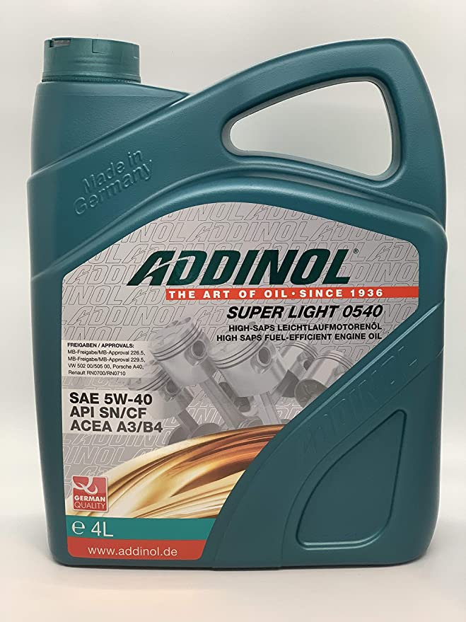 Addinol Super Light 5w 40 A3 B4 Motorenöl 4 Liter Auto
