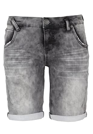 4331bfbb15e12e Sublevel Damen Sweat Bermuda-Shorts I Kurze Hose für Frauen in Jeansoptik  und Used-Look  Amazon.de  Bekleidung