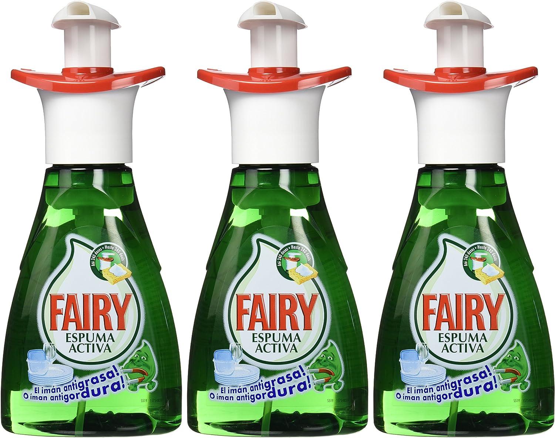 Fairy Espuma Activa - Lavavajillas, pack de 3x 375 ml (Total 1125 ...