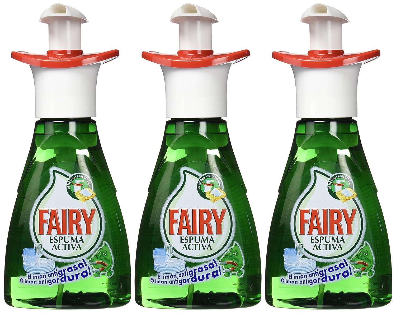 Fairy Espuma Activa - Lavavajillas, pack de 3x 375 ml (Total 1125 ml): Amazon.es: Salud y cuidado personal