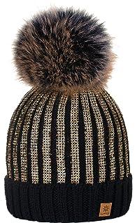 56d12df439c 4sold Womens Girls Winter Hat Knitted Beanie Large Pom Pom Cap Ski  Snowboard Hats Bobble…