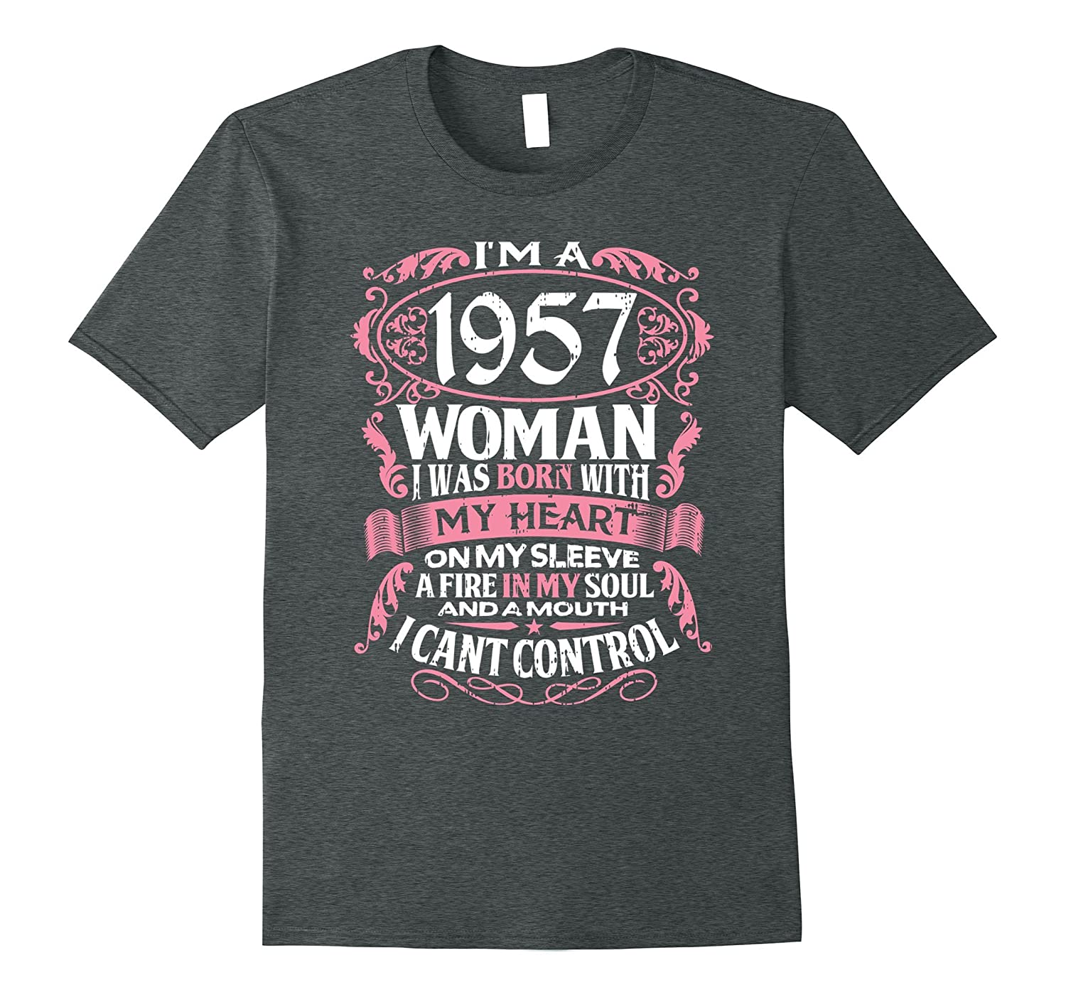 60th Birthday Gift Shirt Im A 1957 Woman 60 Years Old Tee ANZ