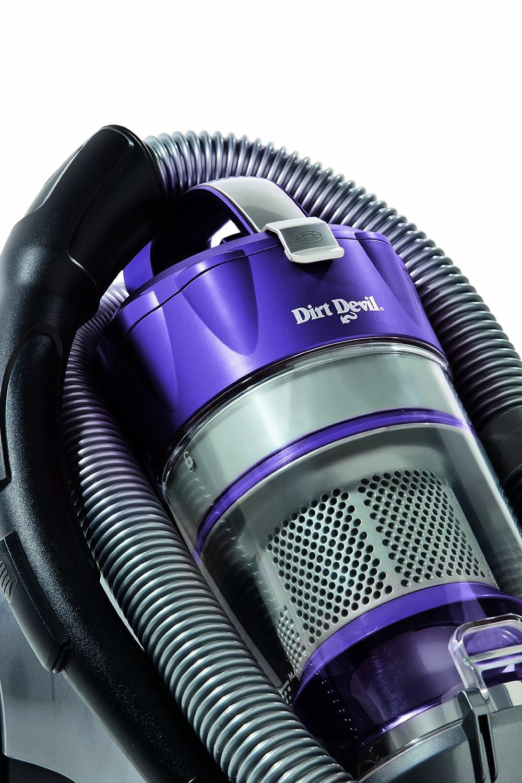 Dirt Devil M5036-1 Infinity VS8 Turbo - Aspirador sin bolsa (1600 W, boquilla turbo y para parqué), color grafito y violeta: Amazon.es: Hogar