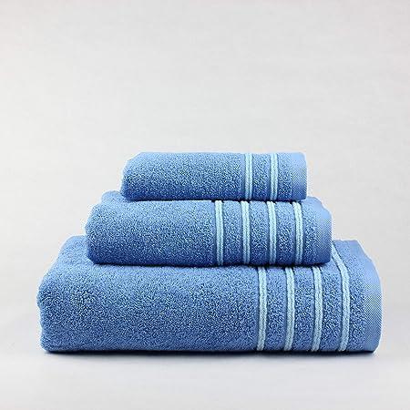 Natural Cuori 500 G Juego de Toallas Baño, Algodón 100%, Azul, 30 x 50cm, 50 x 90cm, 100 x 140 cm: Amazon.es: Hogar