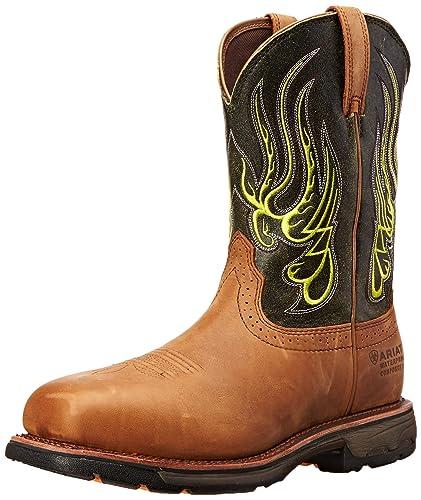 Ariat Men's Workhog Mesteno Wide Square H2O Composite Toe Work Boot Rust/Moss