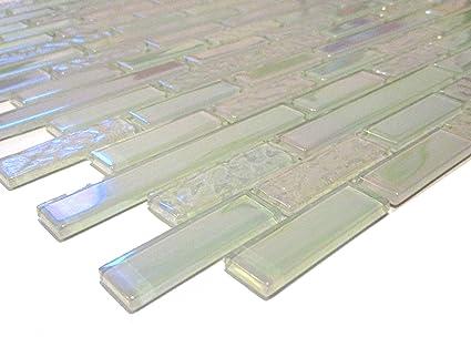 Cm cm modello vetro mosaico muro di piastrelle bianco