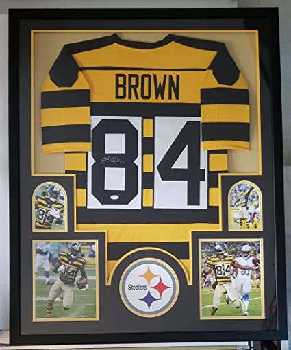 1128d10bc0f Antonio Brown Autographed Signed Bumblebee Jersey Framed Pittsburgh  Steelers JSA