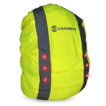 Hi Vis Backpack Cover with LED Flashing Lights for Visibility ...