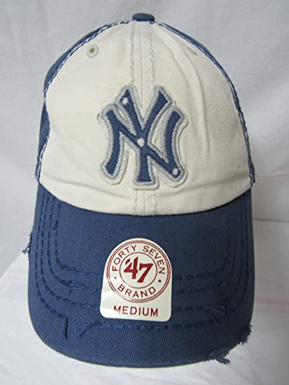 bea87b2aae8 Image Unavailable. Image not available for. Color  47 Twins New York Yankees  Size Medium Yankees Scavenger MLB Franchise NY Baseball Cap ...