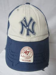 fb254e8f36c069 47 Twins New York Yankees Size Medium Yankees Scavenger MLB Franchise NY Baseball  Cap Hat E1