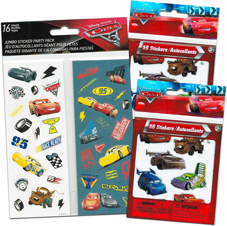Disney Cars Stickers Party Favors Pack ~ Bundle Includes 24 Cars Sticker Sheets ~ 576 Stickers Disney Cars Party Supplies