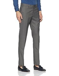c8f9d731f5d blackberrys Men s Slim Fit Formal Trousers  Amazon.in  Clothing ...