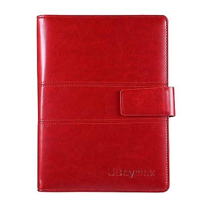 UBAYMAX A5 Libreta, Ubierta de Cuero de la PU Cuaderno de Espiral Libretas Agendas, Bloc de notas Tapa Dura Rayas Lined Notebook para la Escuela y la ...