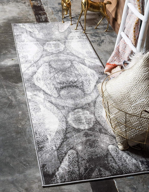 Unique Loom Sofia Traditional Area Rug, 2' 0 x 6' 7, Dark Gray