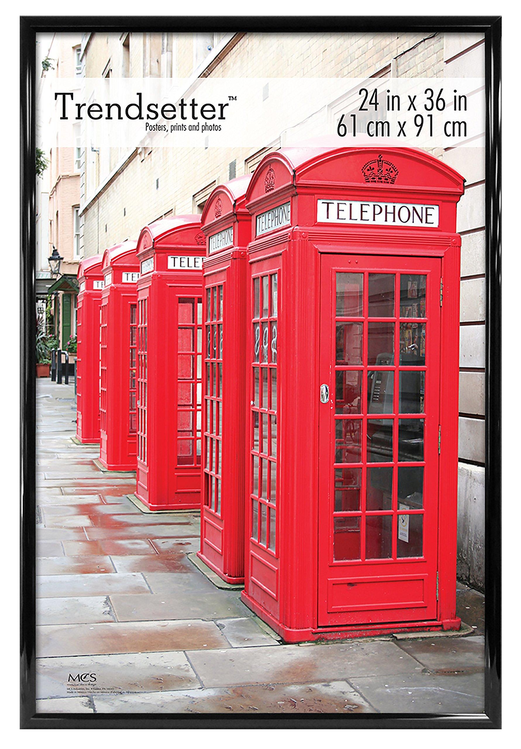 MCS Trendsetter 24x36 Inch Poster Frame, Black