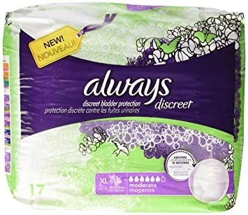 Always Discreet Incontinence Underwear, XL- 17 ct