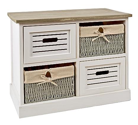 ts-ideen Cómoda estantería armario de madera estilo de la ...
