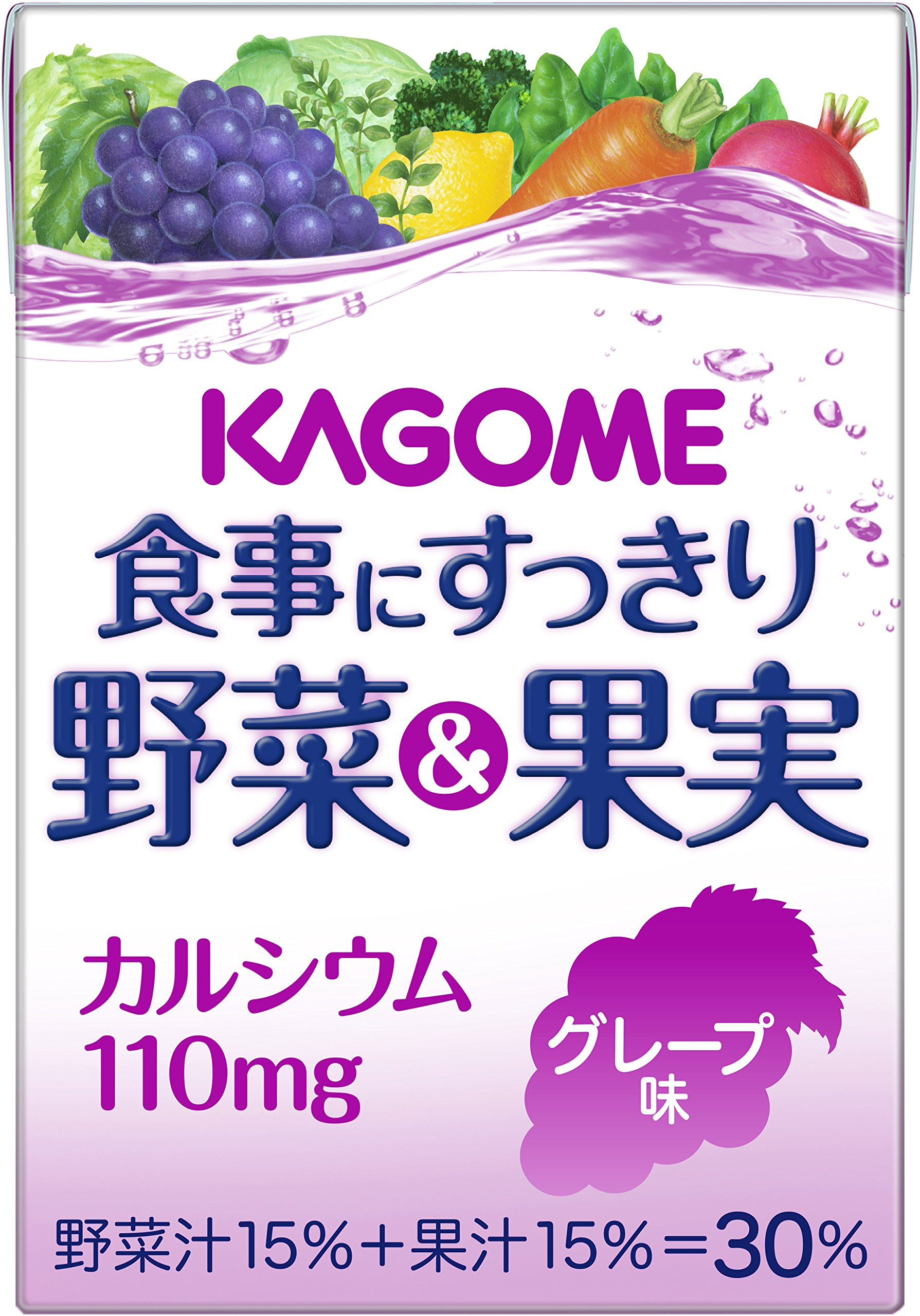 Kagome 100mlX36 this clean vegetables and fruit calcium grape flavor to the meal