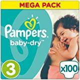 Pampers - Baby Dry - Couches Taille3 (5-9kg/Midi) - Mega Pack (x100couches)
