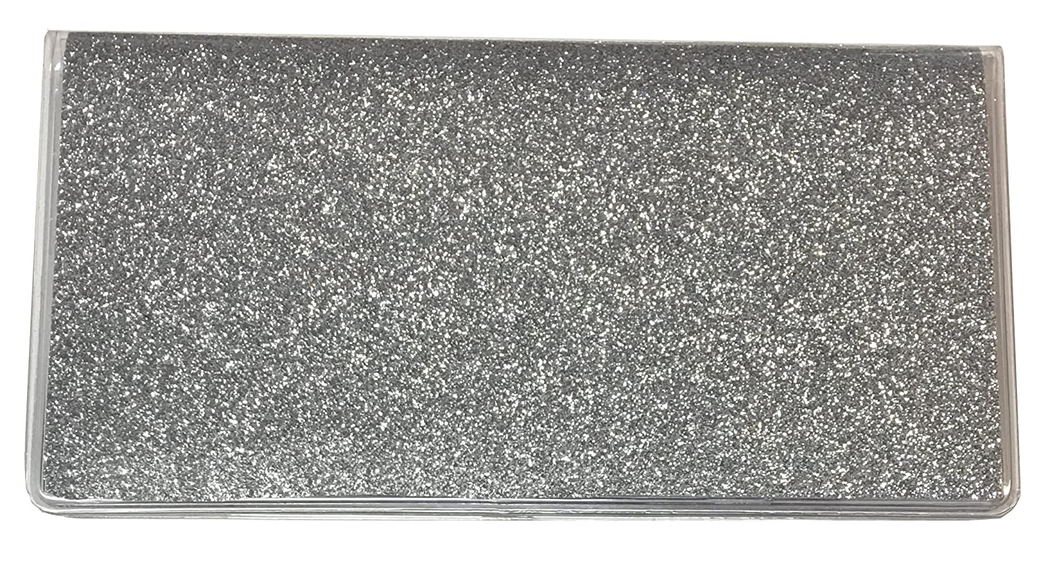 Silver Glitter Checkbook Cover w/Register Bling Sparkle Bank Register CGR00SFBA