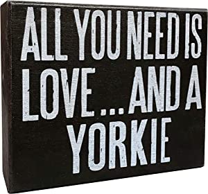 JennyGems All You Need is Love and A Yorkie | Wood Sign | Home Decor | Yorkie Gifts