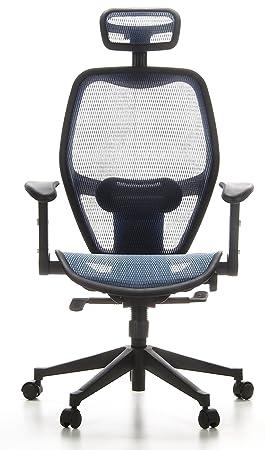 Hjh OFFICE 653060 Chaise De Bureau Fauteuil AIR PORT Bleu Siege