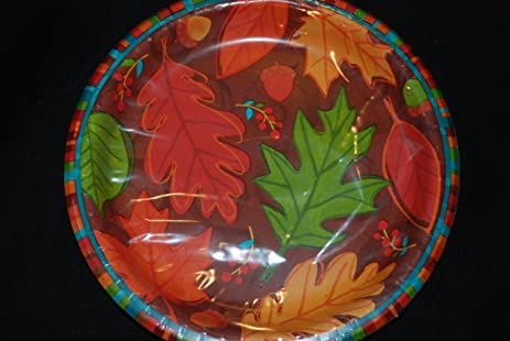 8 Falling Foliage 7 Inch Paper Plates Fall Paper Plates Autumn Paper Plates & Amazon.com: 8 Falling Foliage 7 Inch Paper Plates Fall Paper Plates ...