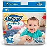 Drypers Wee Wee Dry Medium Size Diapers (74 Counts)