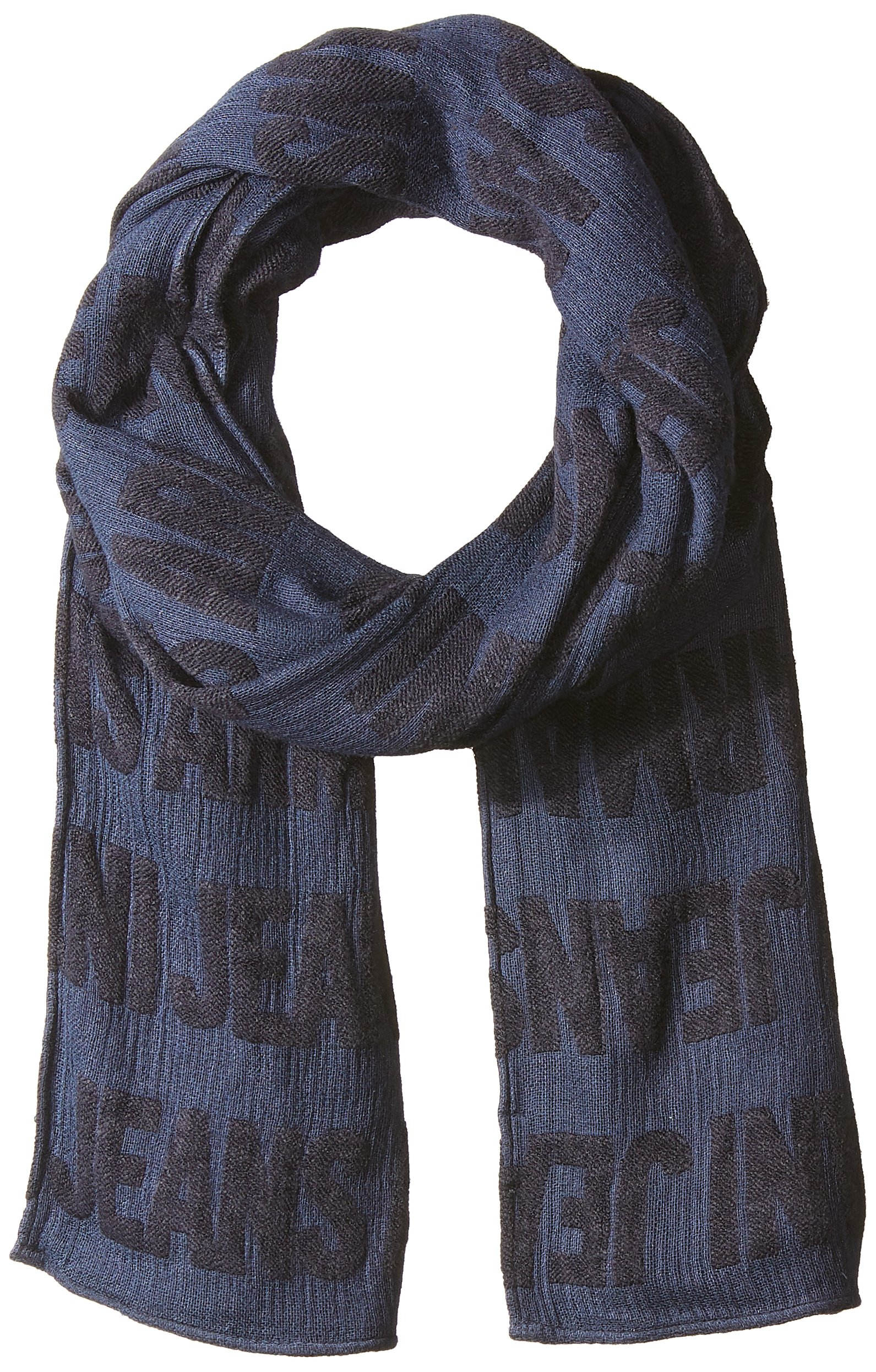Armani Jeans Men's Two Tone Cotton AND Viscose Fabric Scarf, blue/blue, ONE SIZE