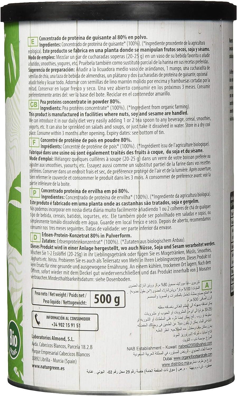 NATURGREEN 8436542195775 PROTEINA DE Guisante Bio 500 G ...