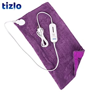 "Heating Pad, 12"" X 24"" Large Size Ultra Soft Heat Therapy Wrap for Back, Abdomen, Hand, Shoulder Legs, Waist, Dry/Moist Heating Pad with Auto Shut Off Perfect Purple"