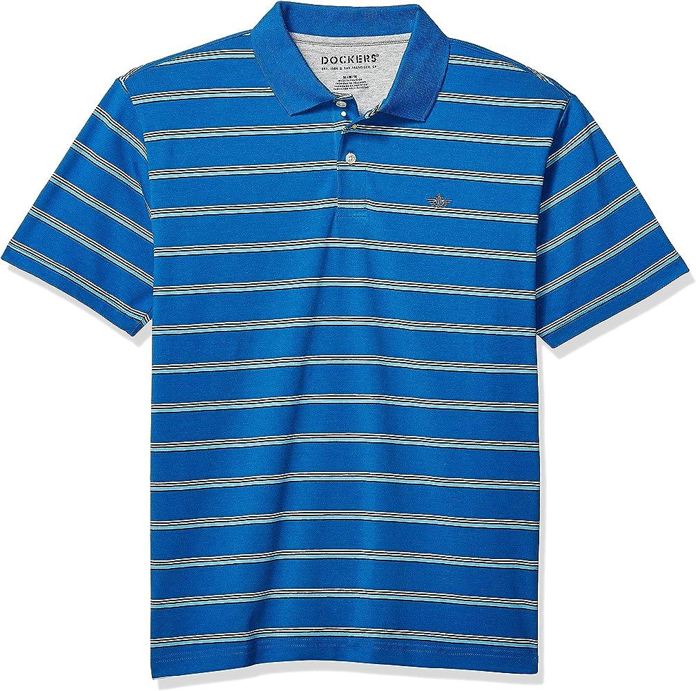 496771c7 Dockers Men's Short Sleeve Performance Polo, Nebula Blue, S at ...