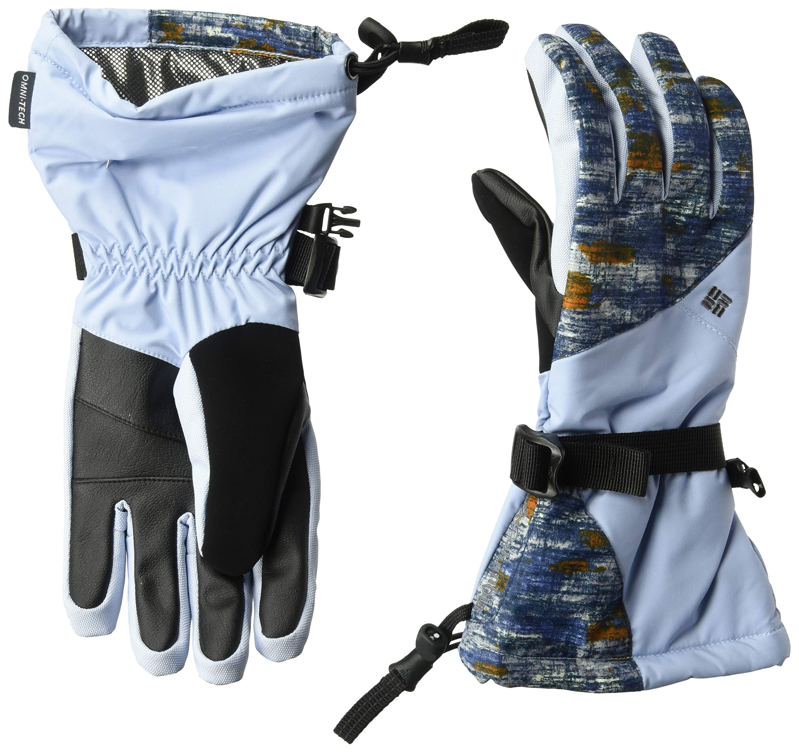 Columbia Women's W Whirlibird Gloves, Faded Sky Camo Print, Large